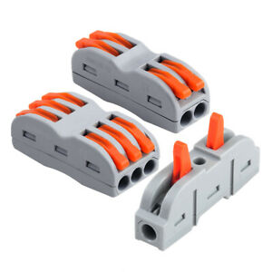 Lever Nut Electrical Wire Cable Connector Conductor Block Clamp Terminal 20pcs