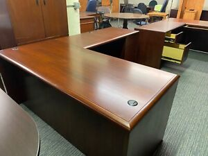 L shape Executive Desk By Kimball Office Furniture