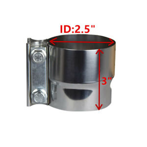 2 5 Lap Joint Exhaust Band Clamp Preformed T304 Stainless Steel 1 Pcs