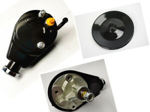 Sbc Bbc Chevy Black Saginaw Style Power Steering Pump W Single Groove Pulley