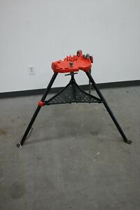Ridgid 450 Tristand 1 8 5 Chain Pipe Vise Threading Stand