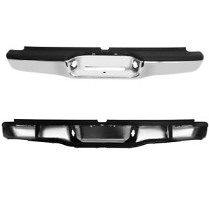 Us Rear Bumper Assembly Black Steel For 1995 2004 Toyota Tacoma First Generation