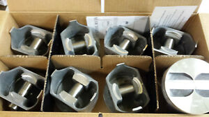 327 Chevy Forged Pistons L2165f Standard Bore Trw Non Coated Skirts