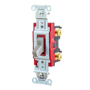 Hubbell 1221gy Pro Series Toggle Switch Sp 20a 120 277v Ac Gray