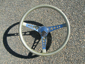 Vintage Original Superior 500 Gold Metal Flake 15 Steering Wheel Hot Rod Gasser