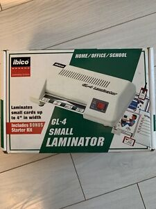 Ibico Gl 4 Small Desktop Laminator Photo Id Business Card Laminator 4 x6 W box