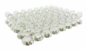 Lot Of 50 Magnet Clear Translucent Magnetic Push Pins 50 Pack