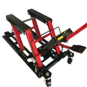 Hydraulic Foot Operated 1500lb Motorcycle Atv Center Lift Jack Stand Platform