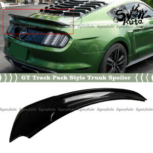 Fits 2015 2021 Ford Mustang Glossy Black Track Pack Gt Style Trunk Spoiler Wing