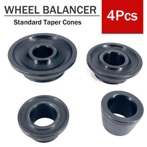 Wheel Balancer 36mm Shaft Low Profile Taper 4 Pieces Cone Set Carbon Steel
