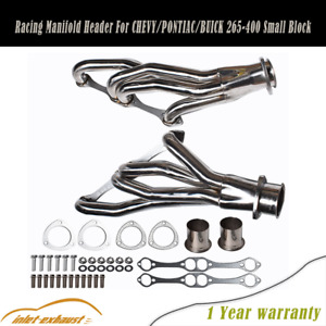 Stainless Racing Manifold Header For Chevy Pontiac Buick 265 400 Small Block Us