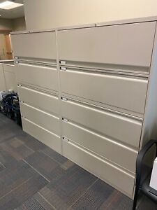 5 Drawer Lateral Size File Cabinet By Teknion Office Furniture