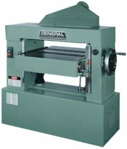 General International 24 inch Single Surface Planer Helical Cutterhead 10 Hp