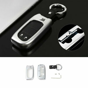 Smart Remote Key Fob Shell Cover Zinc Alloy Silver For Jeep Cherokee 2014 2020