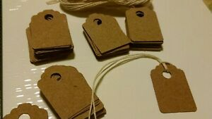 50 Small Thick Rustic Brown Acid Free Card Stock Price Tags Gift Tag Unstrung
