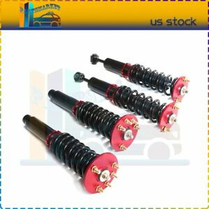 For 1998 2002 Honda Accord Coilovers Shock Suspension Spring Kits Adj Height