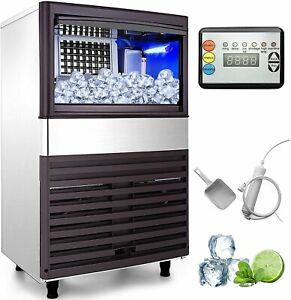 Commercial Ice Maker Machine 70kg 155lbs Ice Production Bkn 155b Hotel Party Use