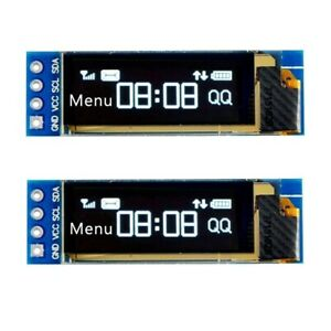 2pcs 128x32 I2c Oled Driver Display Module 0 91 Inch Dc 3 3v To 5v For Arduino