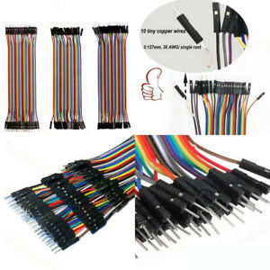 120pcs Breadboard Jumper Wires Ribbon Dupont Cable F m F f M m For Arduino 20cm