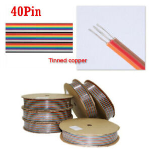40pin Rainbow Color Flat Ribbon Cable Idc Wire Cable For Raspberry 1m 5m 10m