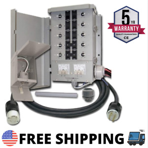 Manual Transfer Switch Kit 30 amp 8 space 10 circuits G2 Control Handy Generator
