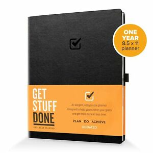 1 Year Undated Daily Planner 8 5 X 11 Planner For Productivity