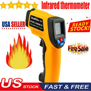Digital Non contact Lcd Ir Laser Infrared Temperature Thermometer Gun Pyrometer