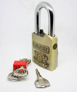 Top Security Anti theft Alarm Lock Padlock Weather Proof Heavy Duty Burglar Lock