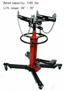 Convenient 2 Stage 1100 Lbs Hydraulic Transmission Jack 34 70 Lift Range New