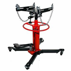 Red 1100 Lbs 2 Stage Telescoping Hydraulic Transmission Jack 1 2 Ton Capacity