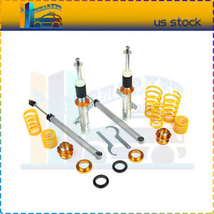 For 2004 2010 Ford Focus Mk2 Coilovers Shock Suspension Spring Kits Adj Height