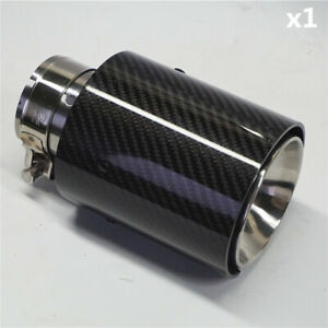 Glossy Black 100 Real Carbon Fiber Car Exhaust End Tips For Bmw 2 5 4 1 Out