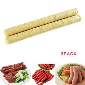 3pcs 14m Natural Sausage Casings Skin Collagen Casing Smoked Fresh Roast Hot Dog
