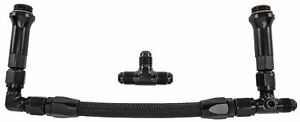 Jegs 15616 Dual Feed Fuel Line Fuel Log Kit For Holley Ultra Hp 4150 06an