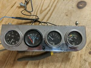 Vintage Stewart Warner Gauge Cluster Oil Pressure volts And Rare Vacuum Gauge