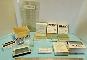 Lot Of Microscope Slides Cover Glass