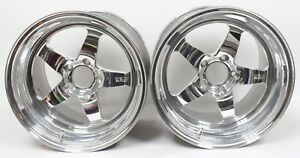 C6 Z06 Weld Racing Rt S S71 Forged Aluminum Polished Rear Wheels 17x11 Used Lsx