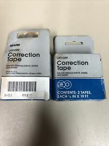 Sears 54009 Lift off Typewriter Correction Tape Ribbons 54010 54085 And 54089