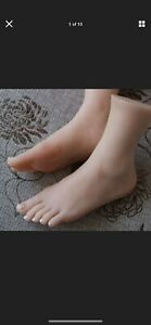 New Top Quality Silicone Female Feet Model Upright Foot Display Flattie Size 6