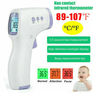 New Infrared Thermometers Baby Non Contact Digital Body Adults Lcd Forehead Dd