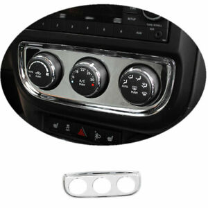 Fit For 2010 2013 Jeep Patriot Compass Abs Chrome Console Ac Switch Panel Trim