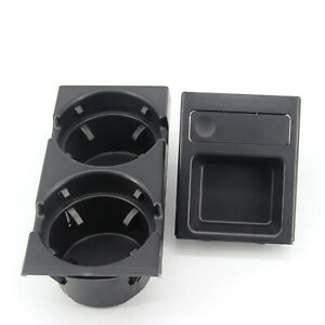 Front Center Console Cup Holder Black For Bmw E46 3 Series