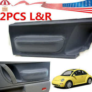 For Volkswagen Beetle 1998 2010 Gray Door Panel Insert Cards Leather Syntheticus