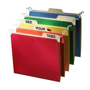 Find It Letter Tab View Hanging File Folder Assorted Colors 20 pack ft07376