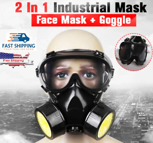 Respirator Full Face Gas Mask Paintin Spray High Safety Filter Activated Carbon