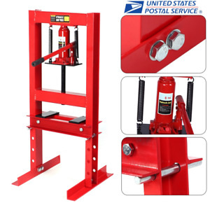 Hydraulic Shop Press Floor Shop Equipment 6ton Jack Stand H Frame Red Usa