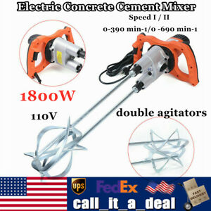 Industrial 1800w Electric Concrete Cement Mixer Grout Mud Mixing Mortar Stirrer