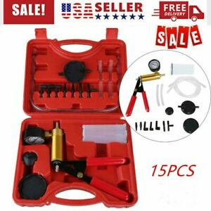 Brake Bleeder Tester Set Vacuum Pump Bleed Kit Handheld Car Motorbike Bleeding