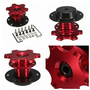 6 Hole Car Steering Wheel Quick Release Hub Adapter Removable Snap Off Boss Us