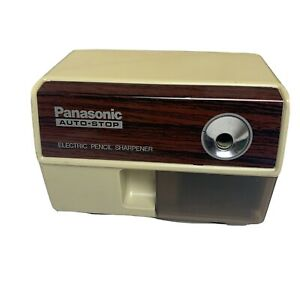 Vintage Panasonic Electric Pencil Sharpener Auto stop Retro Tested Works